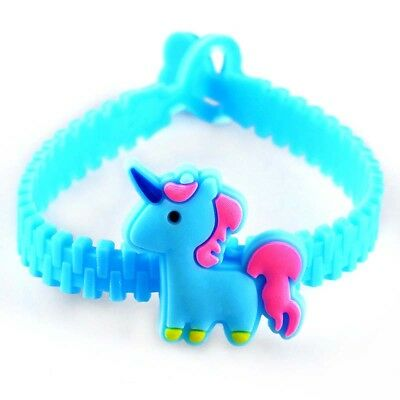 Cartoon Unicorn Pony Silicone Rubber Wristband Bracelet For Kids/Girls Gift