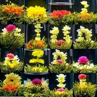 16 PCS Chinese Blooming Flower Tea Natural Handmade Flower Tea