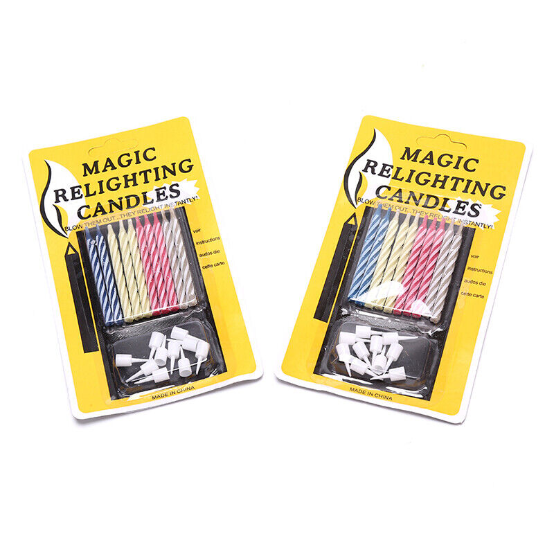 Magic Relighting Candles Funny Trick Birthday Eternal Blowing Candle Party Gift√