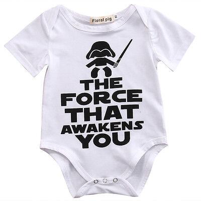 Baby Star Wars (Tops Newborn Baby Boy Girl Star Wars Romper Bodysuit Cotton Babygrows Outfit)