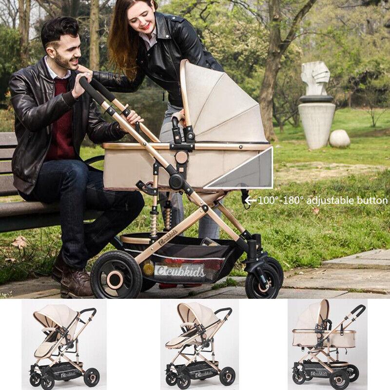 Wechee Newborn Baby Kids Stroller Luxury Buggy Pram Foldable Infant Pushchair