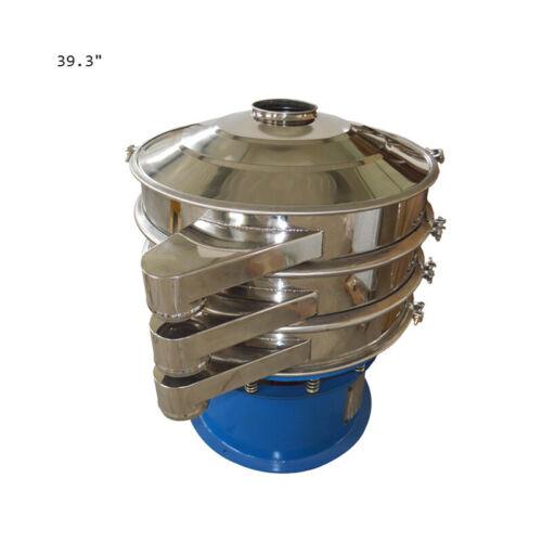 """TECHTONGDA 220V 39.3"""" Stainless Steel Vibrating Screen 2 Layer Powder Shaker"""