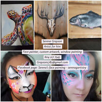 Face painter and artist for hire