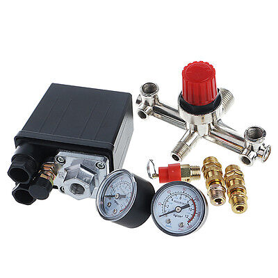 REGULATOR HEAVY DUTY Pump Pressure Air Compressor Control Switch + Valve Gauge