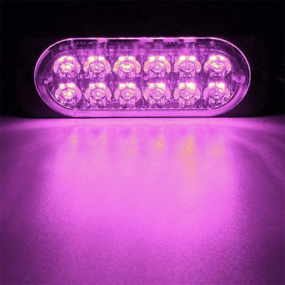 Purple Strobe Light (12 LED Purple 12W Visor Dash Emergency light Warn Flash Strobe Light Bar fit)