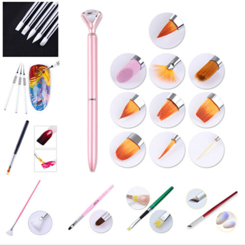Multi Design Nail Brush Set Gradient Dotting Liner Painting
