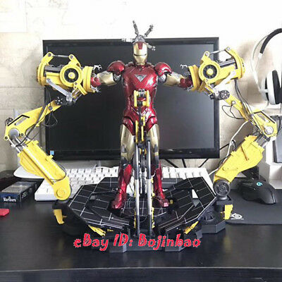Iron Man Suit Up Gantry 1/6 Scale Action Figure Remote Control Lamp Collection