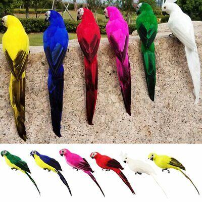 35cm Artificial Feather Parrot Simulation Fake Bird Model Home Garden Lawn Decor