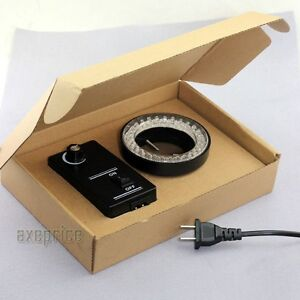 60-LED Adjustable Ring Light illuminator Lamp For STEREO ZOOM Microscope US Plug