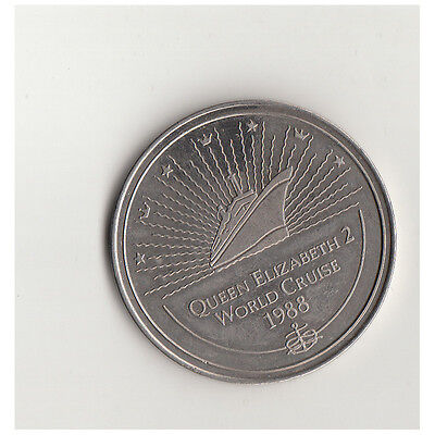 Medaille Queen Elizabeth 2 World Cruise 1988  Nr.36/4/17