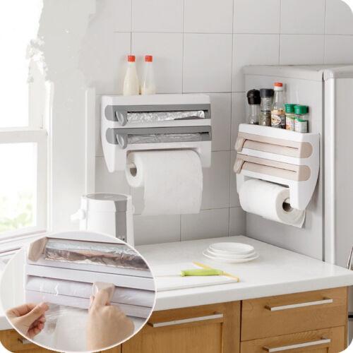 Kitchen Organizer Cling Film Sauce Bottle Storage Rack Paper Towel Holder Tool