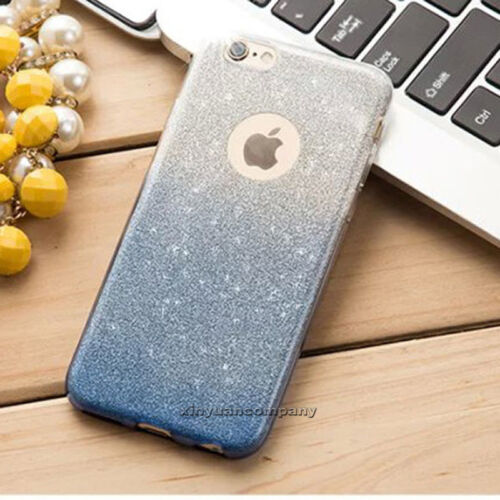 Glitter Bling ShockProof Soft Silicone Case Cover For Apple iPhone X 5 6s 7 Plus