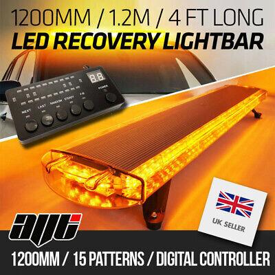 "1200MM 1.2m 48"" Van Truck LED Amber Light Bar Beacon Hazard Recovery Lightbar"