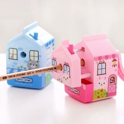 House Mechanical Pencil Sharpener Hand Crank School Stationery Office Supplies