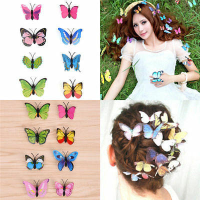 10Pcs Butterfly Hair Clips Bridal Hair Accessories Wedding Photography Costume