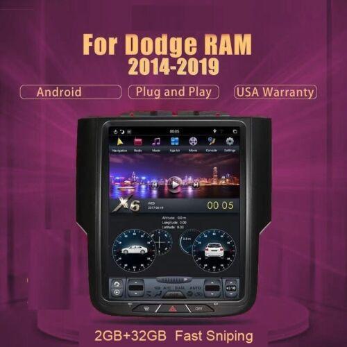 2+32Gb Android 8 Radio Tesla Style Car Gps For Dodge Ram1500 2500 3500 2013-2018