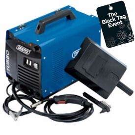 DRAPER 12033 GAS/GASLESS TURBO MIG WELDER 140A 230V WITH MASK & WIRE BRUSH