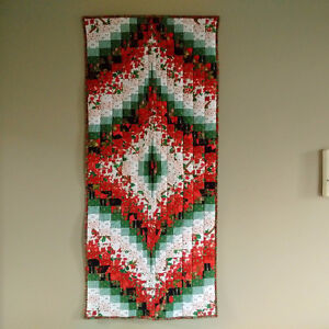 Quilted Bargello Christmas Table Runner or Wall Hanging