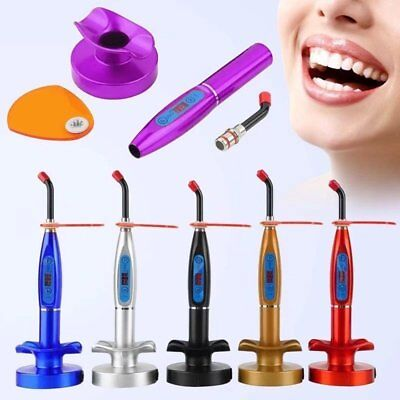 Dental Curing Light 5w Led Wireless Cordless Lamp 1500mw Clinics With Tip Purple