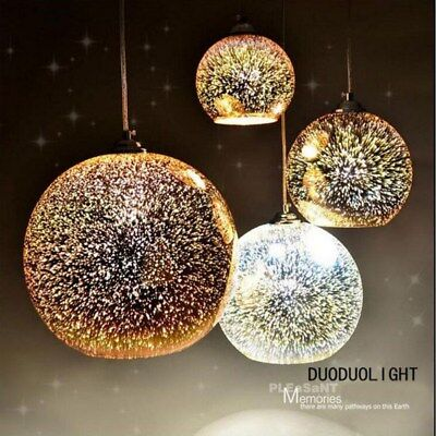 Modern 3D Glass Ball Ceiling Pendant Lamp Hanging Fixtures Dining Room Decor New - Hanging Ceiling Decorations