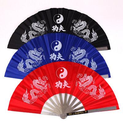 Kung Fu Steel Dragon Fan Tai Chi Training Martial Arts Taiji Dance Fighting (Dragon Kung Fu Training)