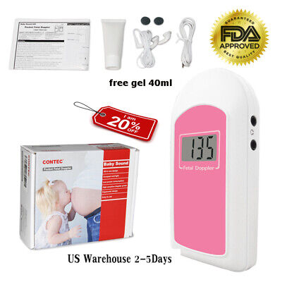 Usa Lcd Fetal Doppler 2mhz Prenatal Heart Rate Monitor Baby Heart Beat Monitor
