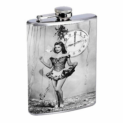 Vintage New Years Eve D13 Flask 8oz Stainless Steel Hip Drinking Whiskey  - New Years Eve Drinks