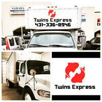 Delivery & Moving Services call 431-336-Twins(8946) Express