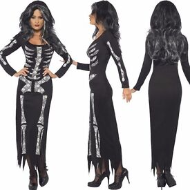 SKELETON X RAY FANCY DRESS OUTFIT BY SMIFFYS SIZE 8/10 GREAT FOR HALLOWEEN