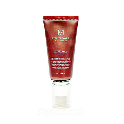Usps Shipping  Missha M Perfect Cover Bb Cream No 21 Spf42 Pa    50Ml