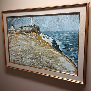 """JC Roy """"Cape Spear"""" 1978 Painting"""