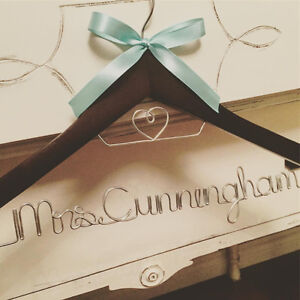 Personalized Wire Hangers, Cake Topper & Table Numbers - WEDDING Cambridge Kitchener Area image 6