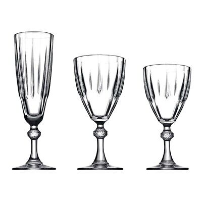 18Pc Versace Sapphire Glass Set Champagne Glasses Wine Glass Water Glass Tumbler
