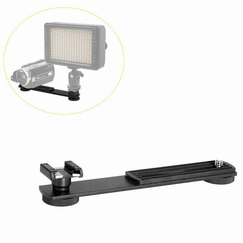 Hot Shoe Extension Bar Dual Bracket Mount For DV LED Video Light  Camera