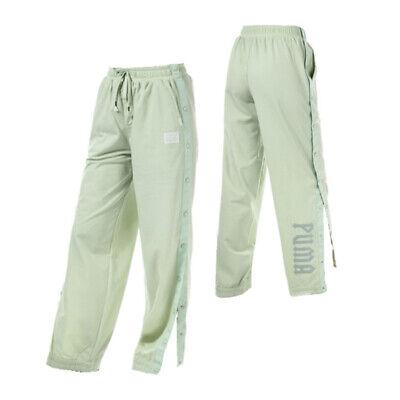 Puma X Rihanna Fenty Womens Front Tearaway Track Pants Green 574694 02 A62C