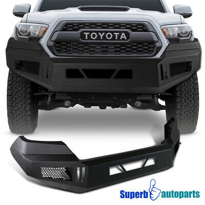 Front Bumper Mat - Front Bumper Cover Matt Black Steel for 16-19 Toyota Tacoma Pickup Assembly