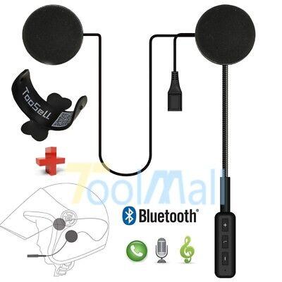 Motorcycle Helmet Headset Speakers Mic Bluetooth Handsfree Music Call Control ()