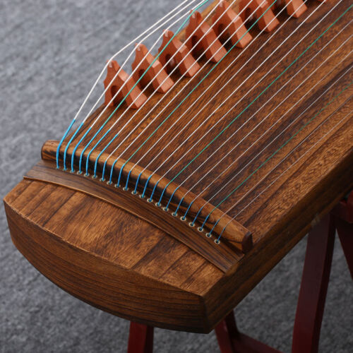New 49 Inch 21-stringed Chinese Zither Gu Zheng Plucked Strings Full Wood #020