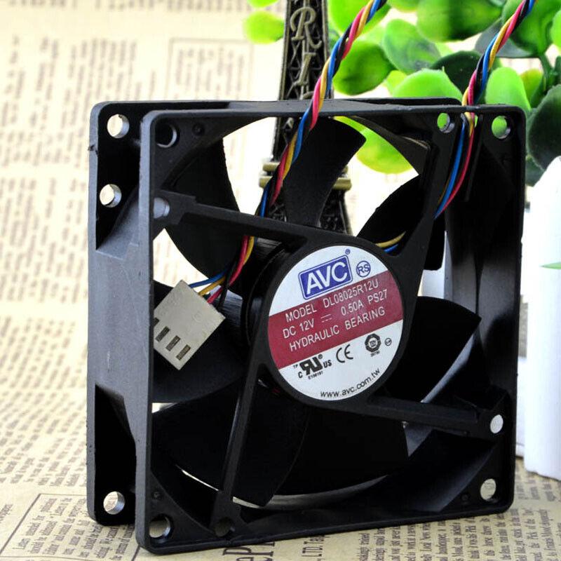 AVC-DL08025R12U-CPU-Cooling-Fan-PWM-12V-0-50A-4Pin-Cooler-Chassis-80x80x25mm thumbnail 8