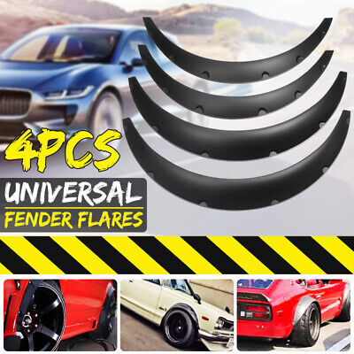 Universal 4PCS Fender Wheel Arches Flare Extension Flares Wide Polyurethane   √!
