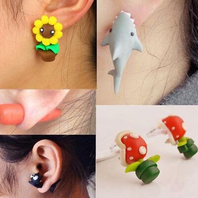 Women Fashion Animal Brincos Piercing Earrings Handmade Shark Earrings Jewelry