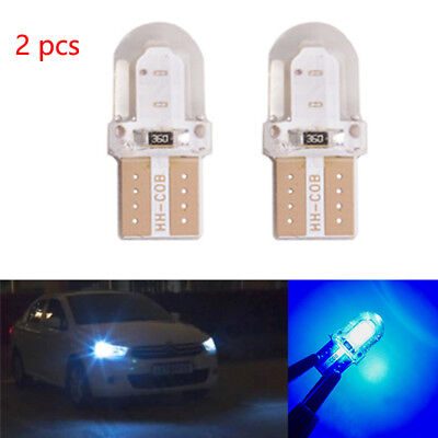 2pc T10 168 194 W5W COB Silica Gel Car LED Bulbs Lamp License Plate Light blue 86 Lamp Side Park Car
