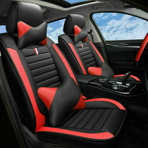 Car Parts - Auto Parts & Accessories Car Seat Cover Luxury PU Leather Protector Cushions Red