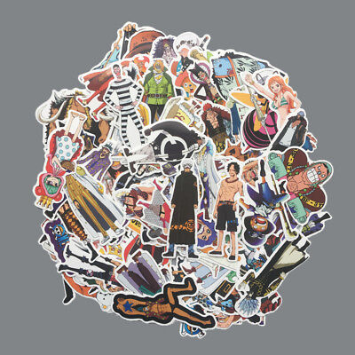 75Pcs One Piece Stickers Pack - Vinyl Decals Print - Luffy - Nami - Zoro - Anime