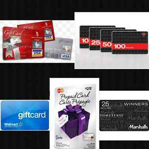 Accepting Gift Cards For Payment!