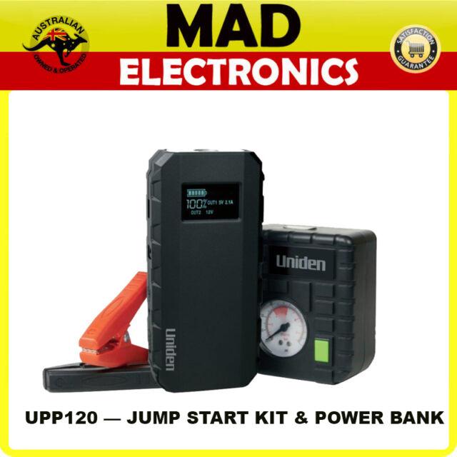 UNIDEN UPP120 BATTERY JUMP STARTER KIT USB POWER SUPPLY LIGHT AIR COMPRESSOR