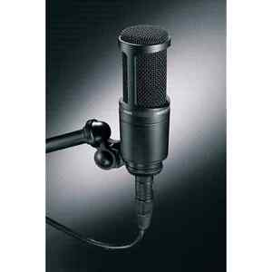 Audio technica AT2020 condenser mic with stand and pop filter