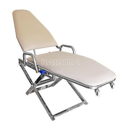 Dental Chair Cuspidor Tray Portable Folding Backrest Durable Stainless Dhl Sale