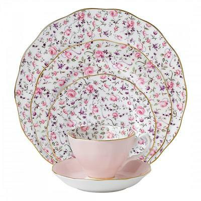 Royal Albert Rose Confetti 60Pc China Set, Service for 12