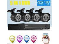 FLOUREON CCTV 4CH 1080N DVR Record 1500TVL IR-CUT Home Security Camera System